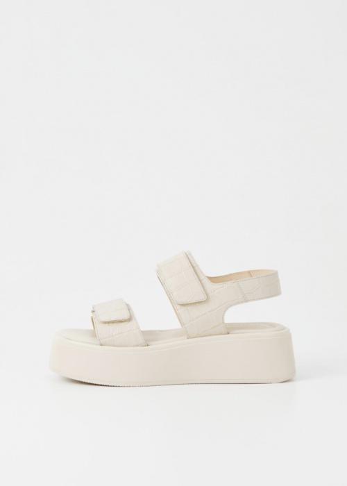 Vagabond Shoemakers - Sandales à plateformes en cuir croco