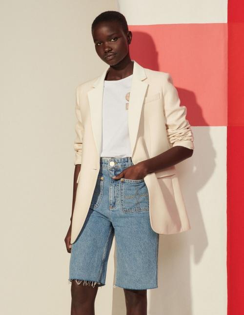 Sandro - Bermuda en jean