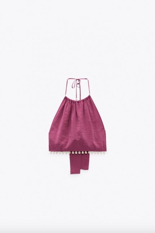 Zara - Crop top coquillages