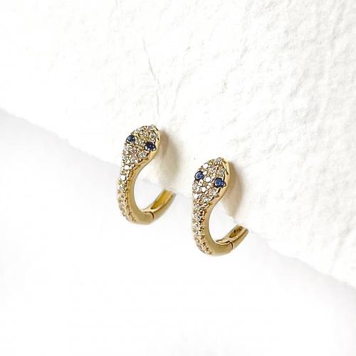 Graazie - Mini créoles serpent