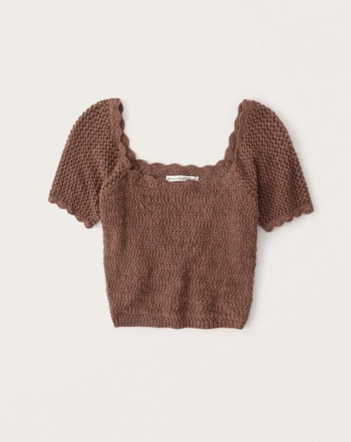 Abercrombie & Fitch - Top en crochet