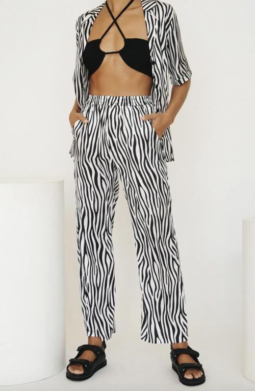 Verge Girl - Ensemble chemise manches courtes et pantalon fluide