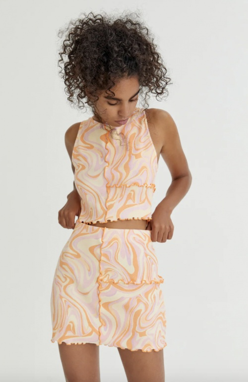 Pull & Bear - Mini-jupe à coutures apparentes