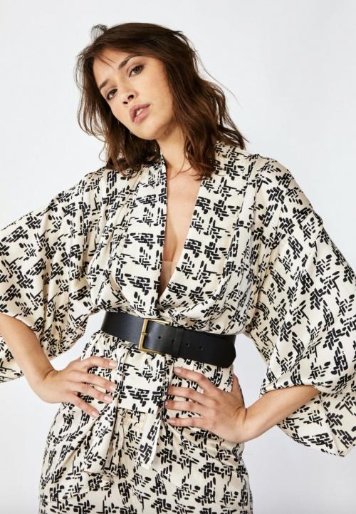 Bagarreuse - Kimono en satin