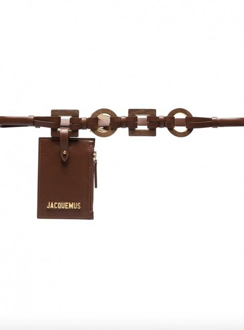 Jacquemus sur Farfetch.com - Sac ceinture en cuir et bois