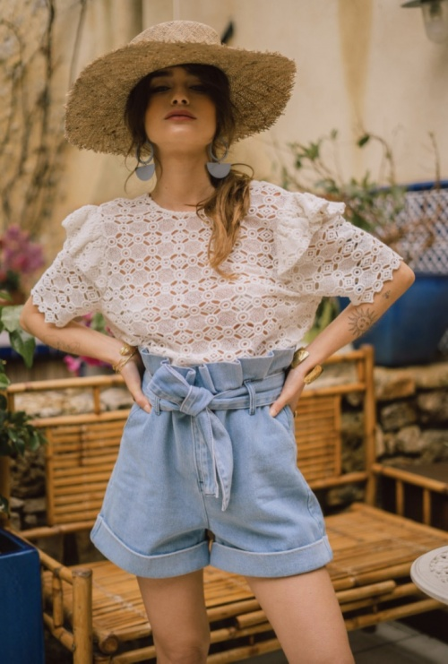 Maison Stella&Suzie - Short en jean