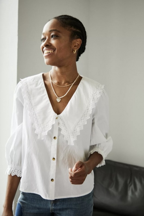 UO - Blouse col Claudine
