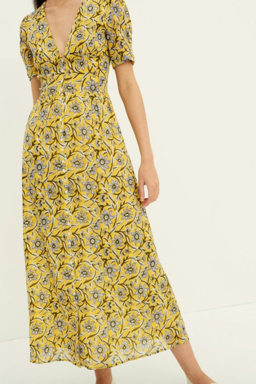 Antikbatik - Robe longue fleurie