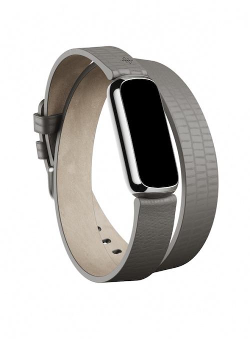 Fitbit - Bracelet double tour en cuir
