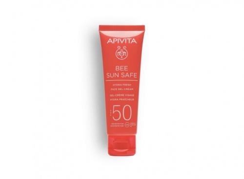 6. Apivita - Bee Sun Safe - Hydra Fresh Face Gel Cream SPF50