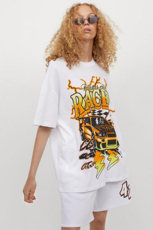 H&M - Tee shirt blanc oversize