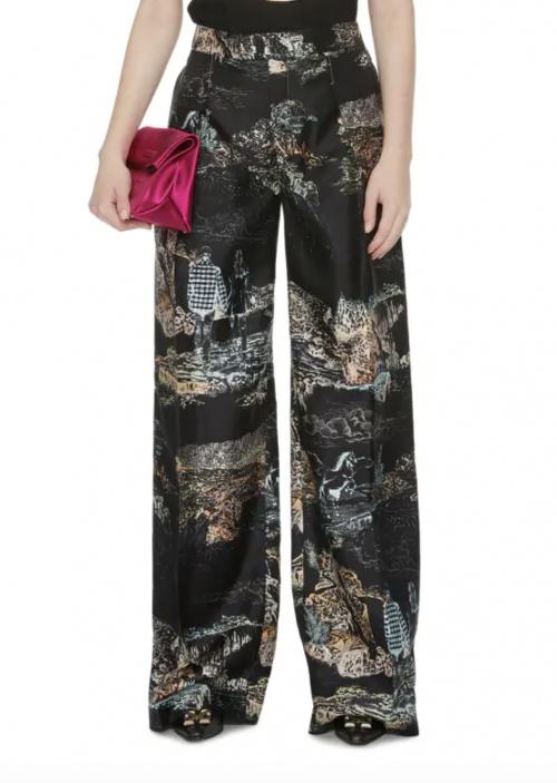 hloé sur Printemps.com - Pantalon en twill de soie