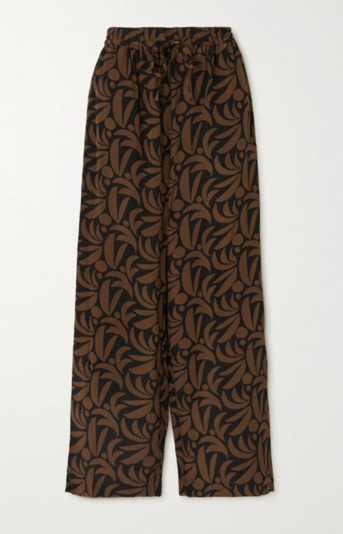 Matteau sur Net-a-porter.com - Pantalon à imprimé en soie