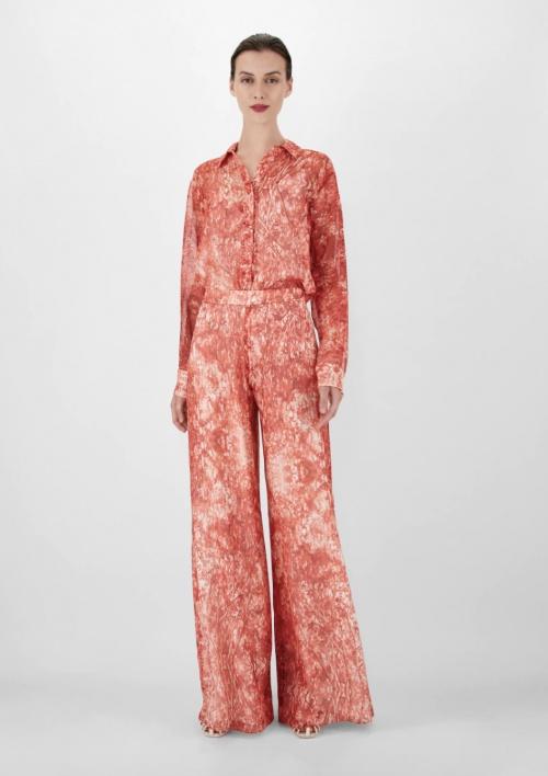 MaxMara - Pantalon à imprimé en soie