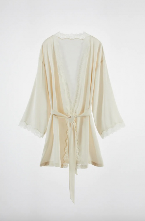 Zara - Robe de chambre en soie