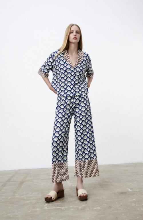 Zara - Pantalon fluide à imprimé
