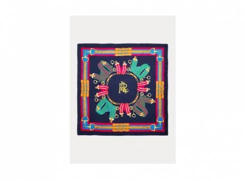 Ralph Lauren - Carré Sally en sergé de soie