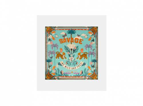 Wild - Foulard Savage pompoms en polyester