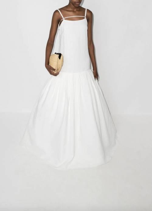 Jacquemus - Robe de mariée en lin et coton