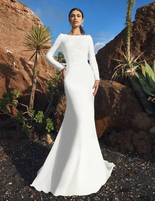 Pronovias - Robe de mariée sirène à manches longues