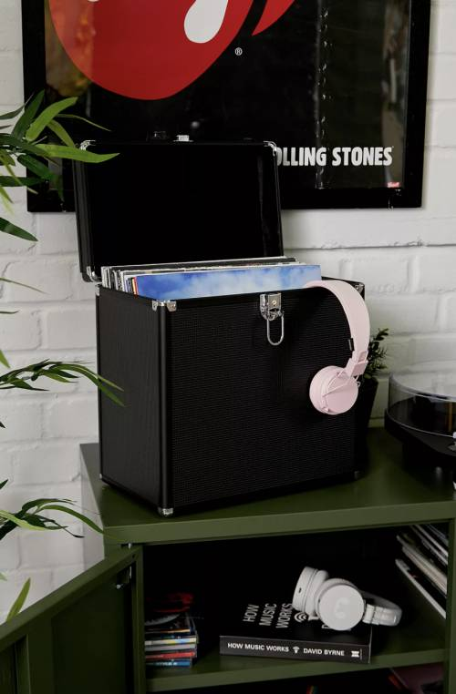 Hama - Boîtier de rangement pour disques vinyles 50/33tours