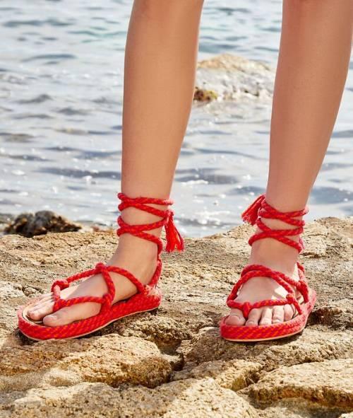 Etam - Sandales en corde