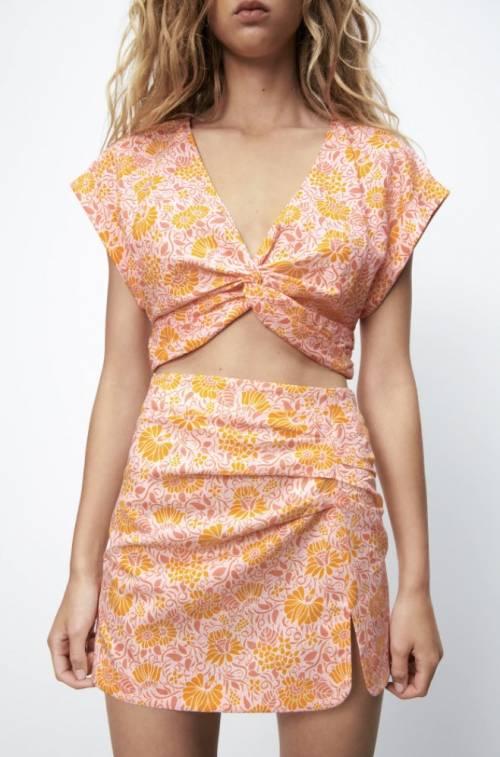 Zara - Minijupe fleurie