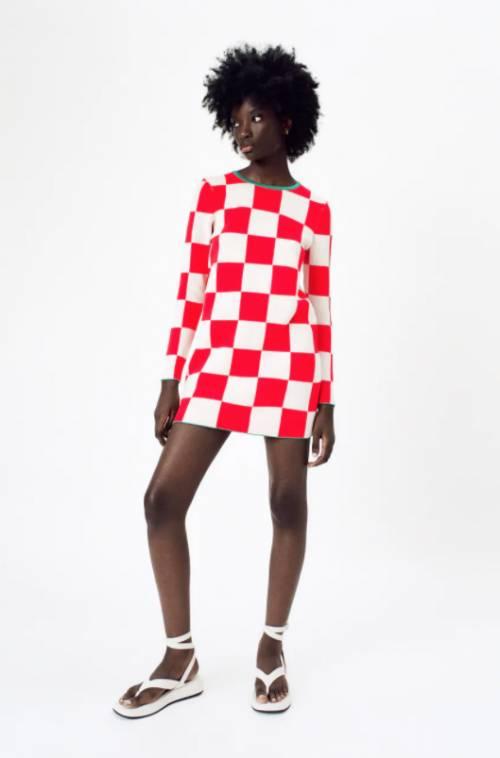 Zara - Robe à carreaux