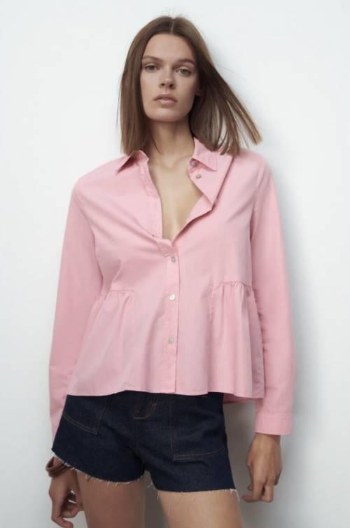 Zara - Chemise à volants