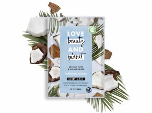 Love beauty and Planet - Masque visage en tissu infusion hydratante