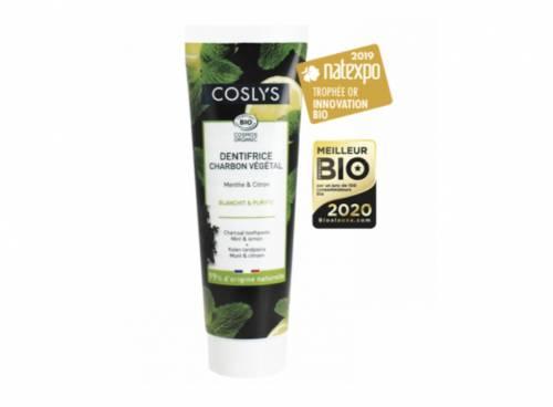 Coslys - Dentifrice au charbon végétal