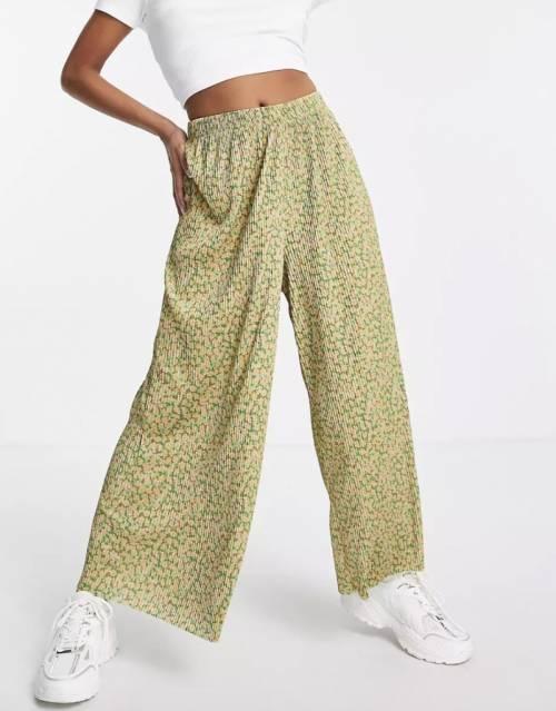 ASOS DESIGN Petite - Pantalon large plissé