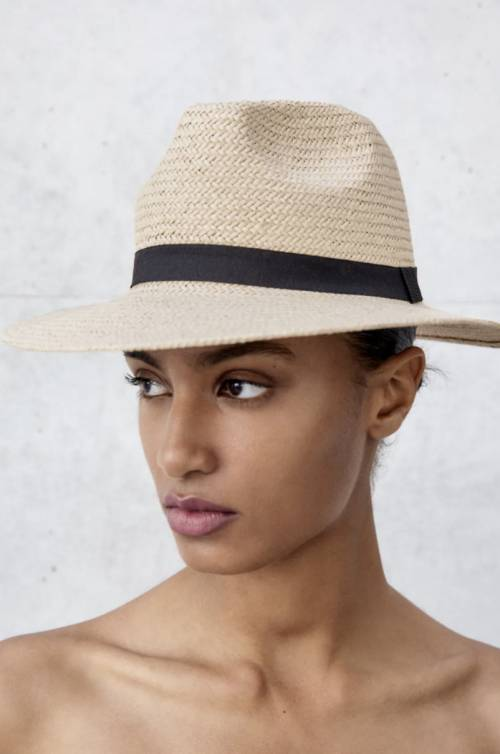 Zara - Chapeau de paille tressé avec ruban