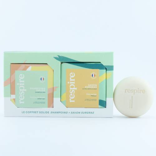 Mon Carré Nature - Respire, Duo Solide Shampoing & Savon