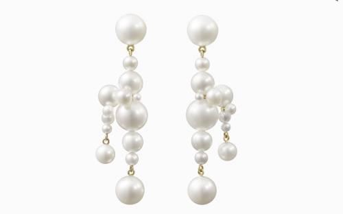 Sophie Bille Brahe - Boucles d'oreilles en or 14k et perles d'eau douce