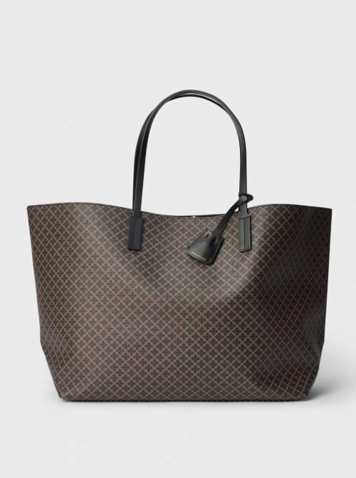 Malene Birger - Grand sac cabas à imprimé en cuir
