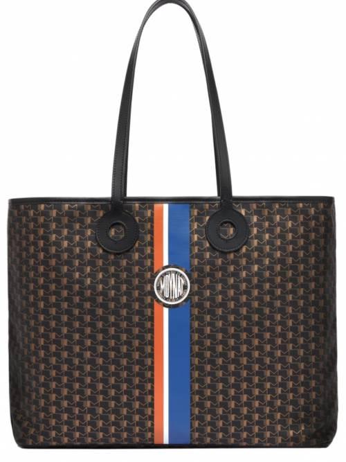 Moynat sur 24s.com - Grand sac cabas en toile enduite