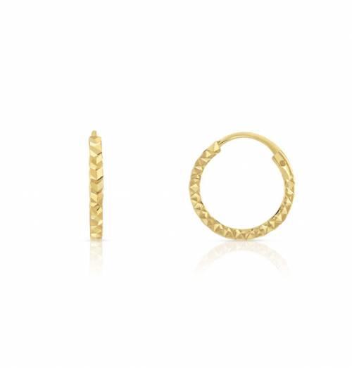 Maty - Boucles d'oreilles créoles en 750 jaune diamanté