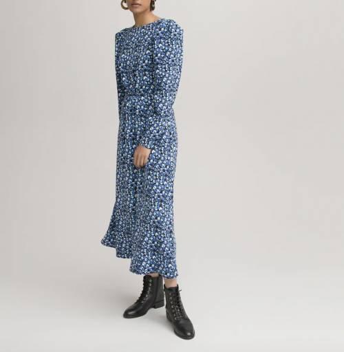 La Redoute Collections - Robe longue évasée à dos nu