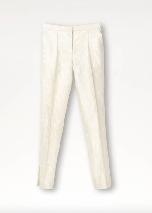 By Marlène Birger - Pantalon en jacquard structuré et finition métallique