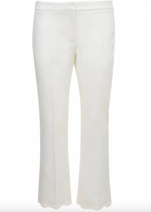 Alexander McQueen sur Luisaviaroma.com - Pantalon droit en dentelle et laine