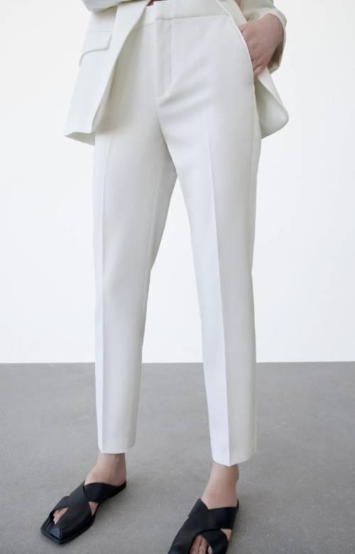 Zara - Pantalon cigarette style smoking