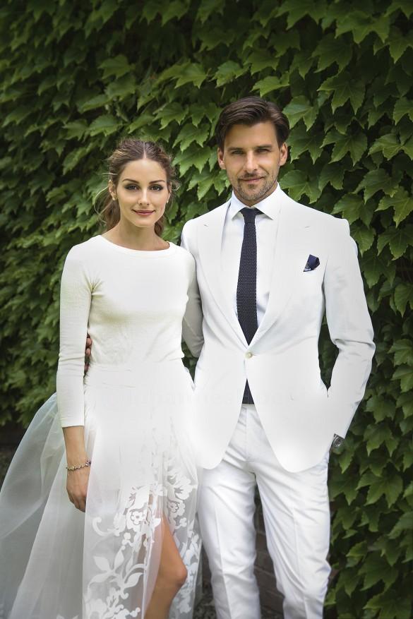 Découvrez la belle robe de mariée d'Olivia Palermo