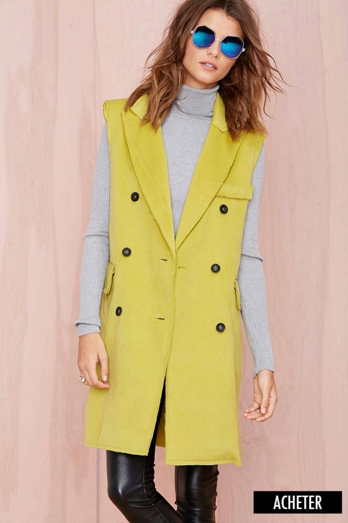 manteau jaune nasty gal