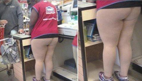 caissière sans pantalon