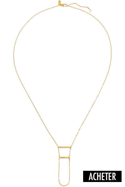 collier long doré