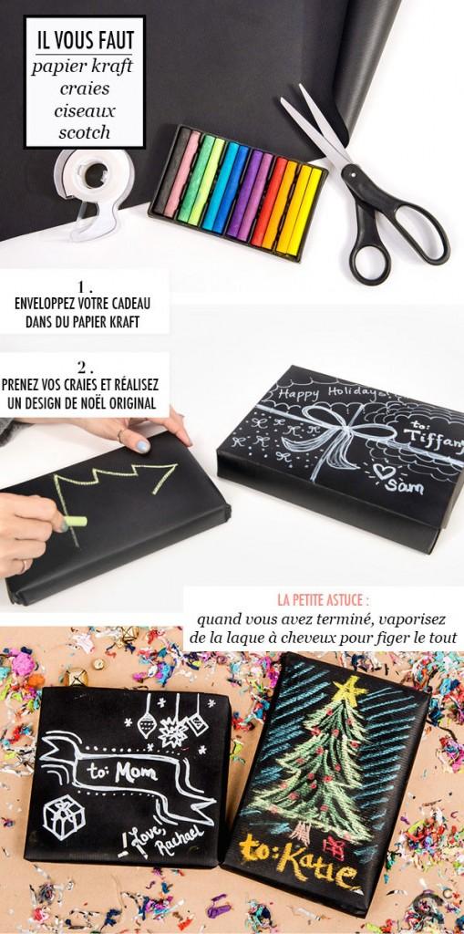 DIY paquets cadeaux pour noel
