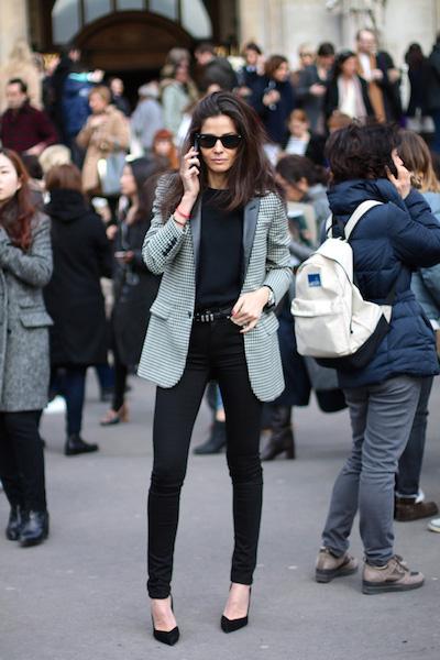 jean noir taille haute street style