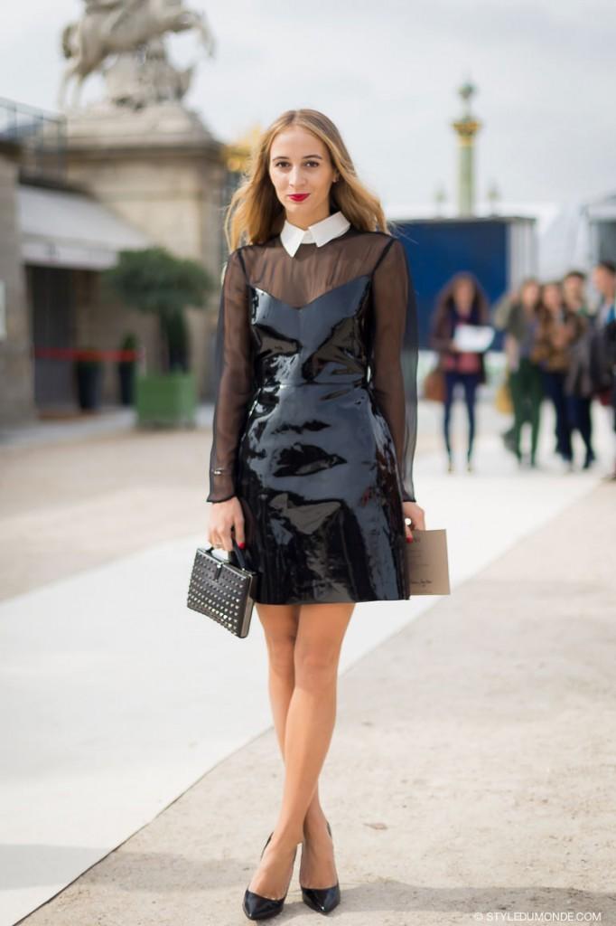 cuir vernis street style