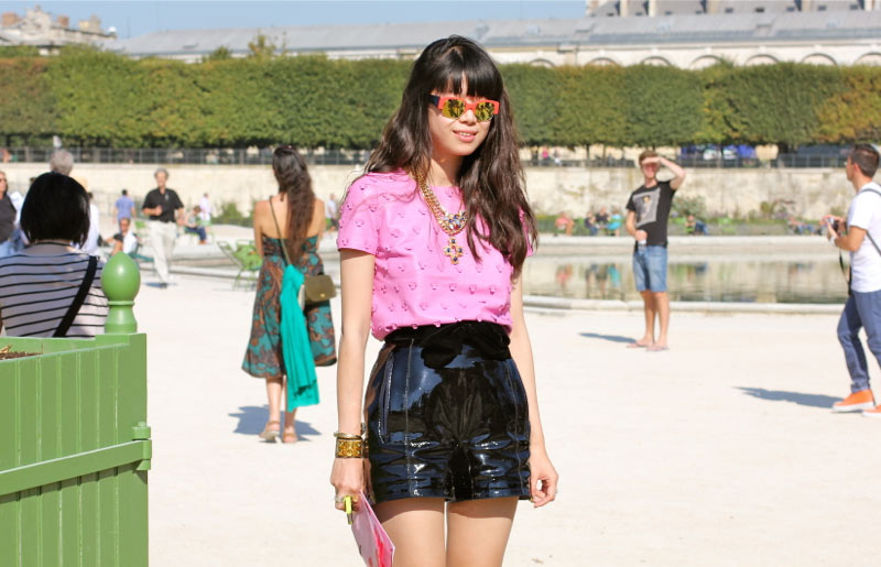 patent leather street style